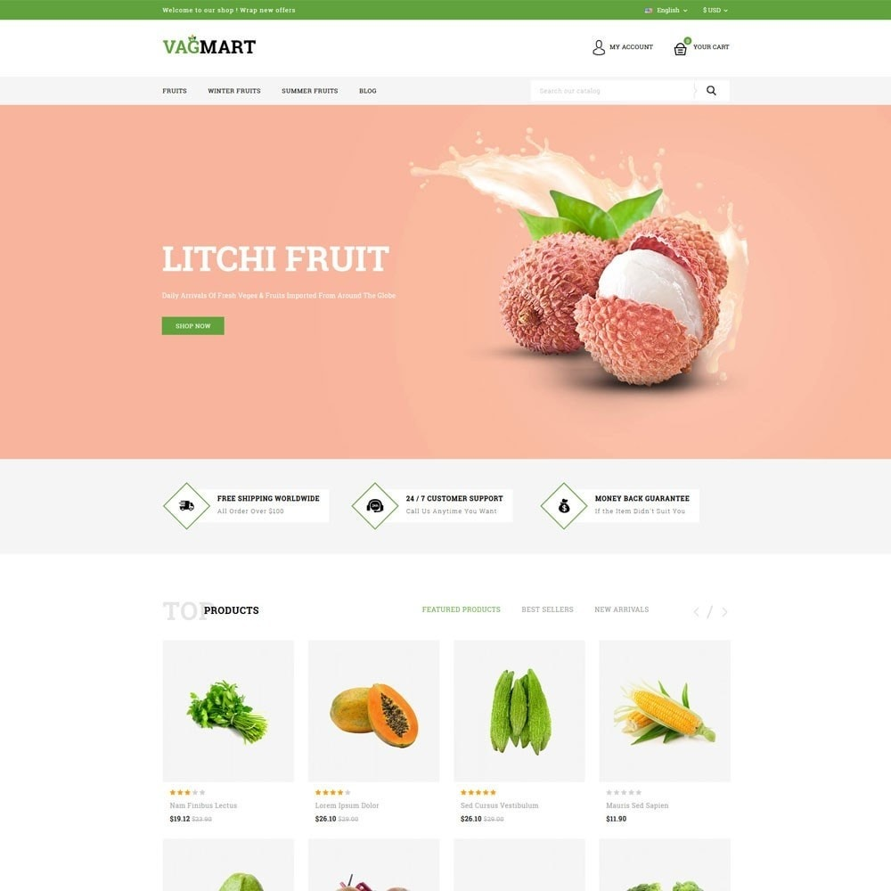 theme - Food & Restaurant - Vegmart grocery store - 2