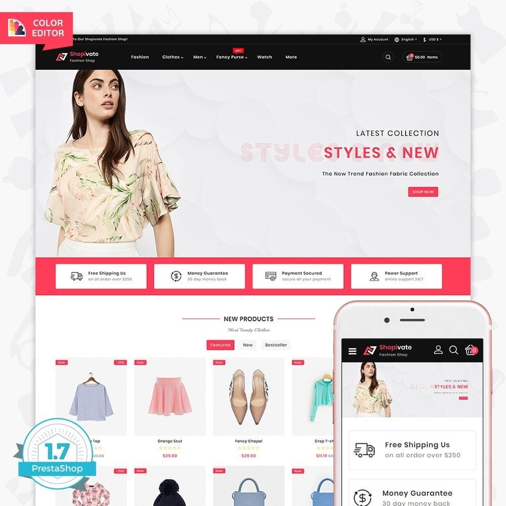theme - Мода и обувь - Shopivate -  The Fashion Shop - 1