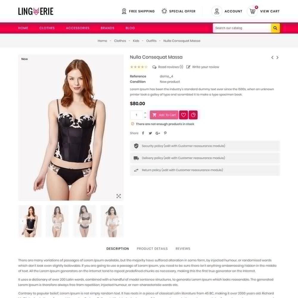 theme - Lingerie & Adult - Lingerie Store - 6