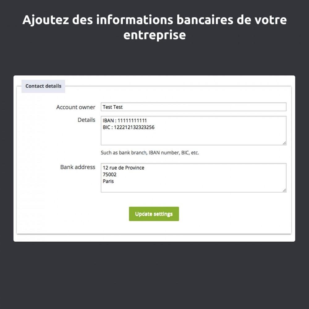 module - Paiement par Transfert Bancaire - Mandat administratif - 3