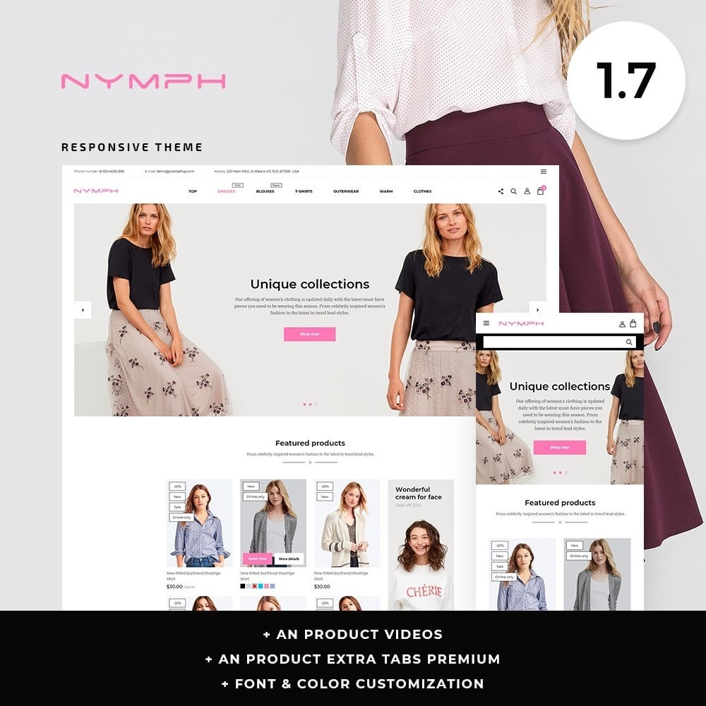 theme - Fashion & Shoes - Nymph Fashion Store - 1