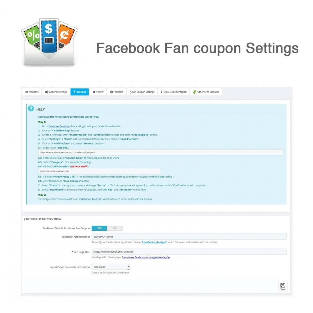 module - Social Rewards & Coupons - Social Fan Coupons (3 in 1) - 10