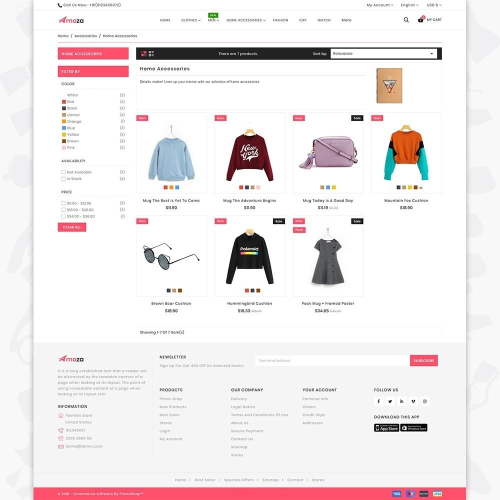 Amoza amoza - the fashion store template