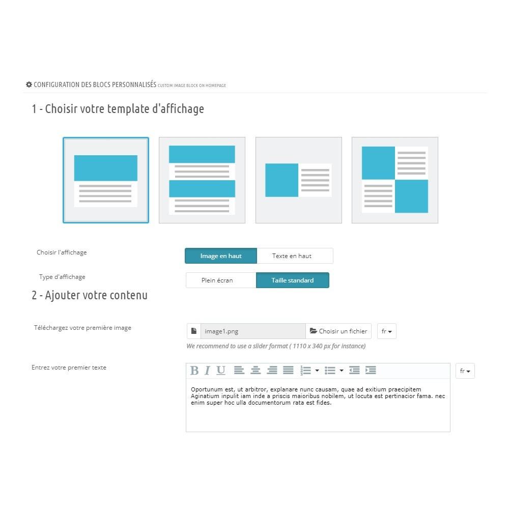 module - Blocs, Onglets & Bannières - Custom Block Homepage - 3