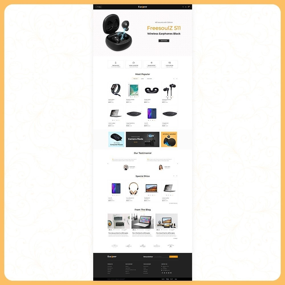 theme - Электроника и компьютеры - Elettronica Escocer- Electronic Shop - 2