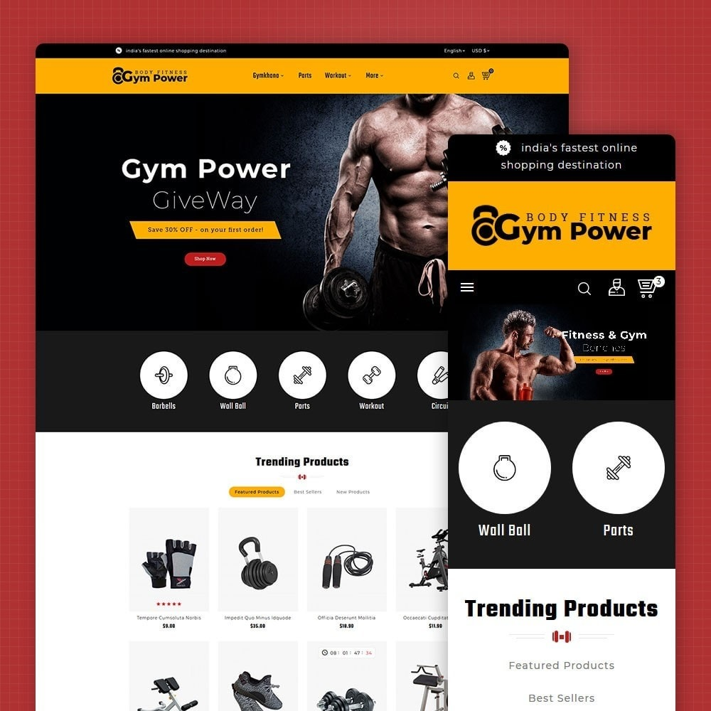 theme - Sports, Activities & Travel - Gym Power - Body Fitness - 1