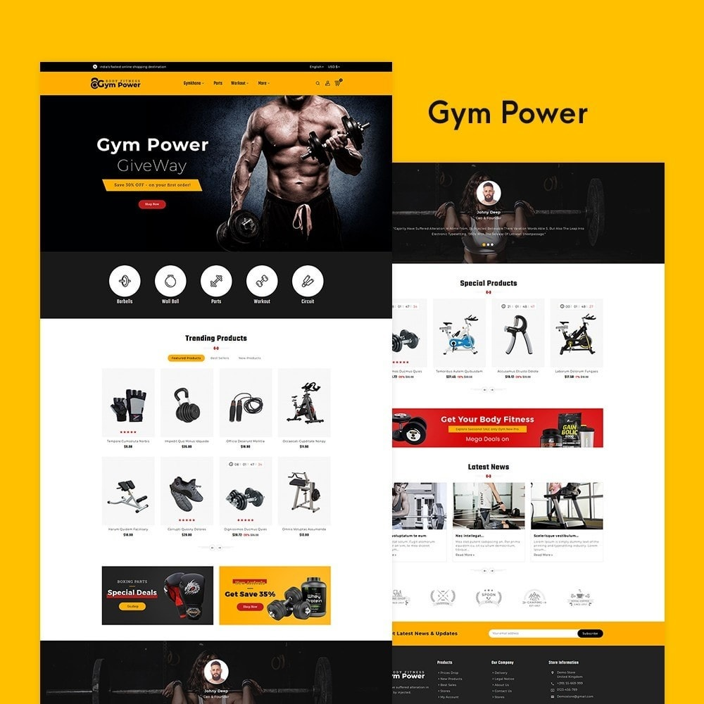 theme - Sports, Activities & Travel - Gym Power - Body Fitness - 2