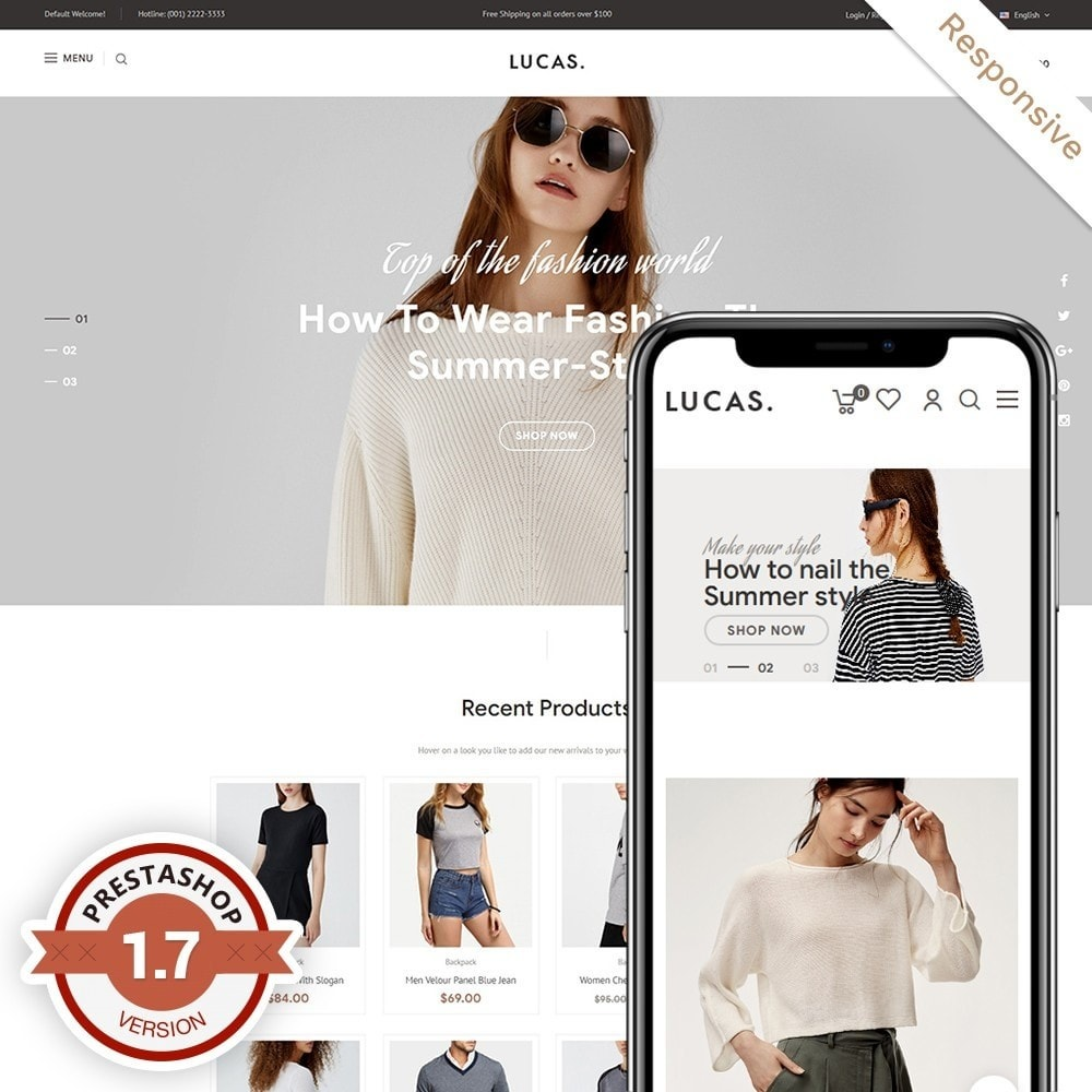 theme - Mode & Chaussures - Lucas - Premium Fashion Theme - 1