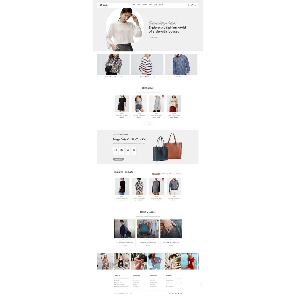 theme - Mode & Chaussures - Lucas - Premium Fashion Theme - 7