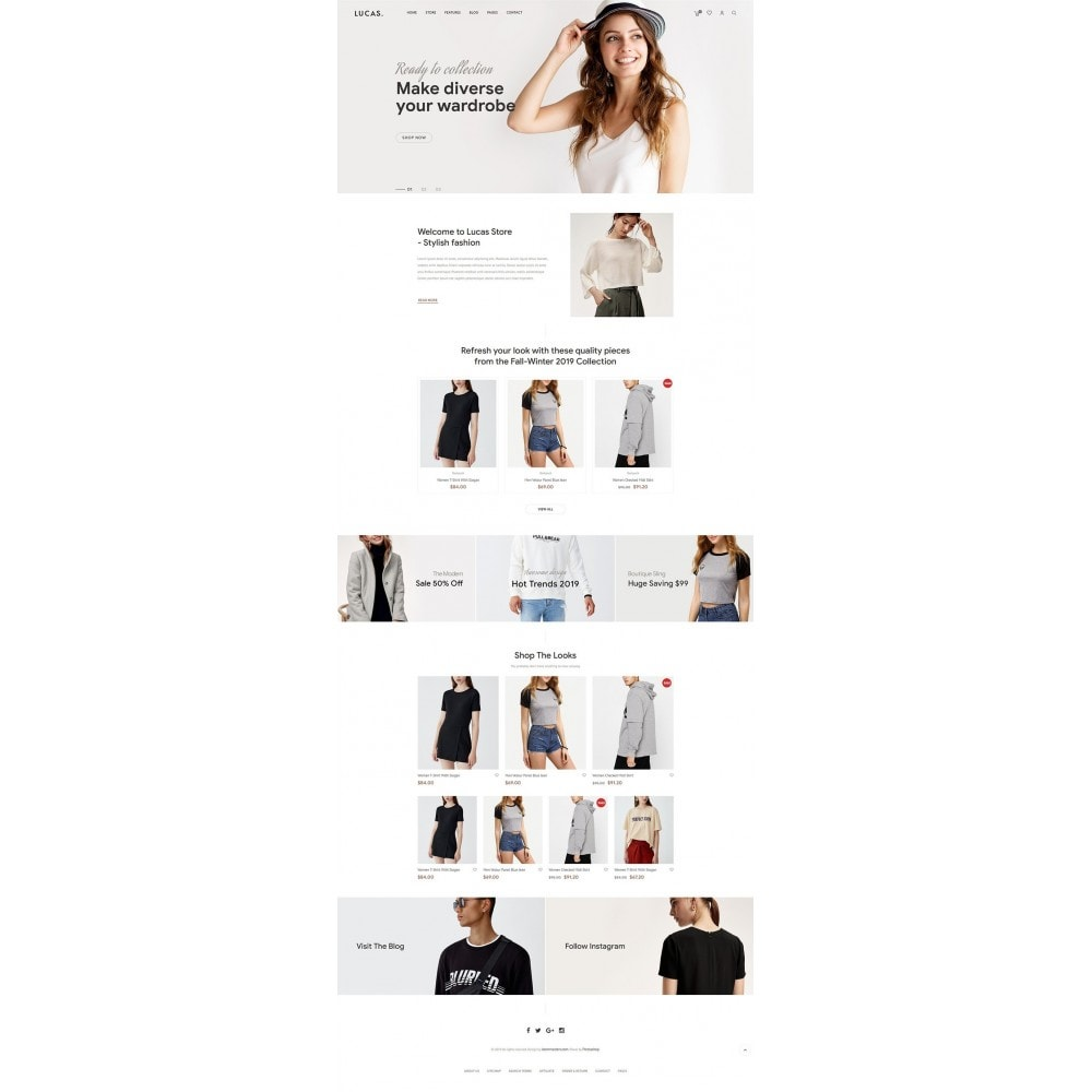 theme - Mode & Chaussures - Lucas - Premium Fashion Theme - 9
