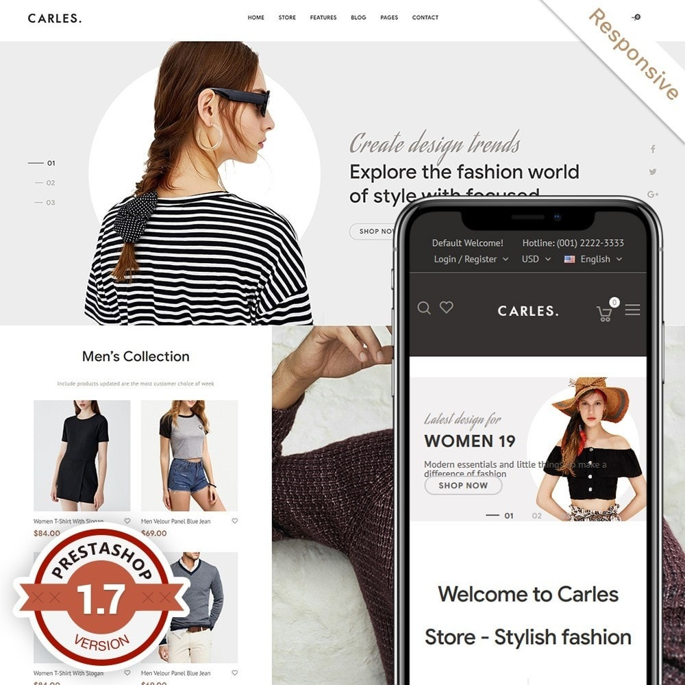 theme - Fashion & Shoes - Carles - Modern Fashion Theme - 1