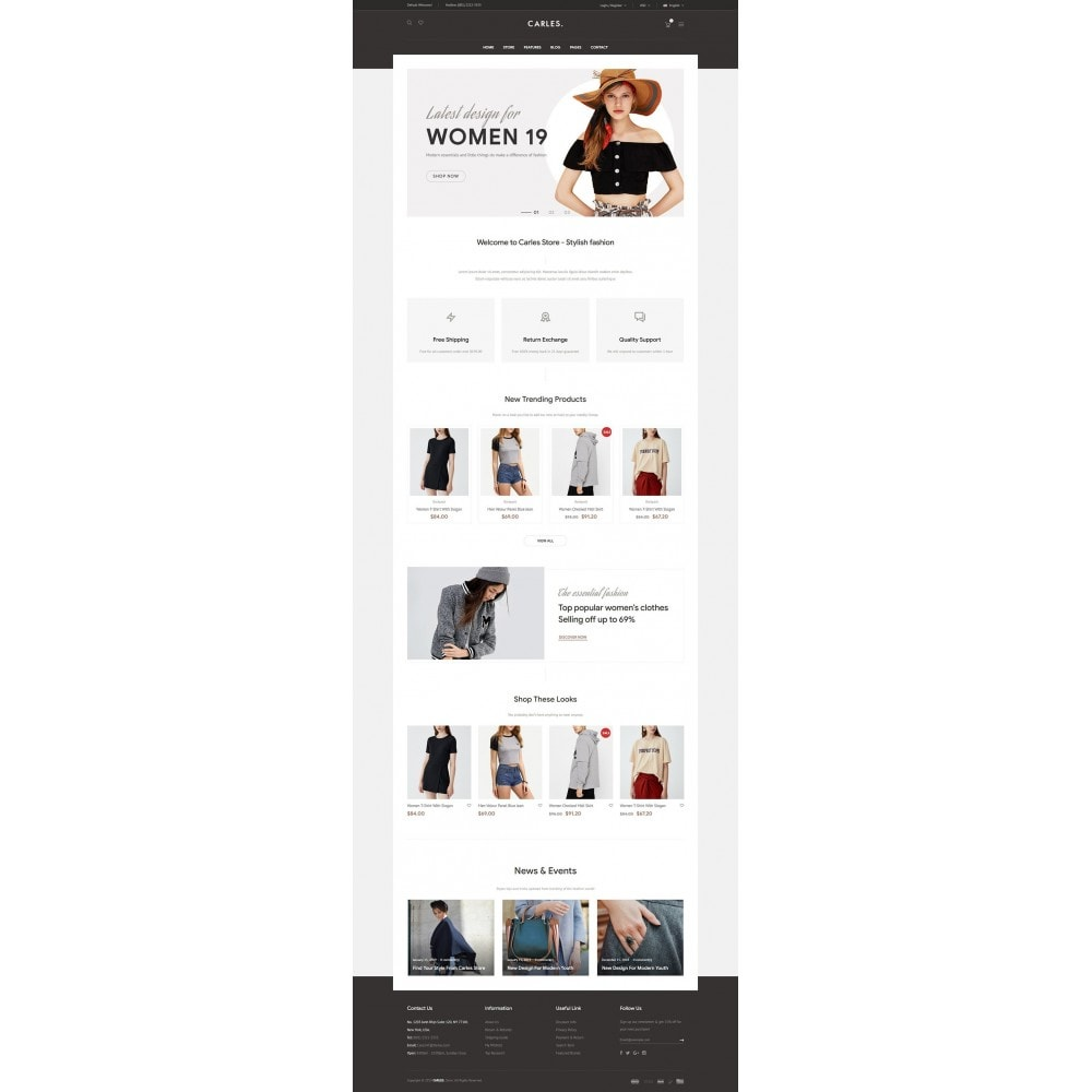 theme - Fashion & Shoes - Carles - Modern Fashion Theme - 6