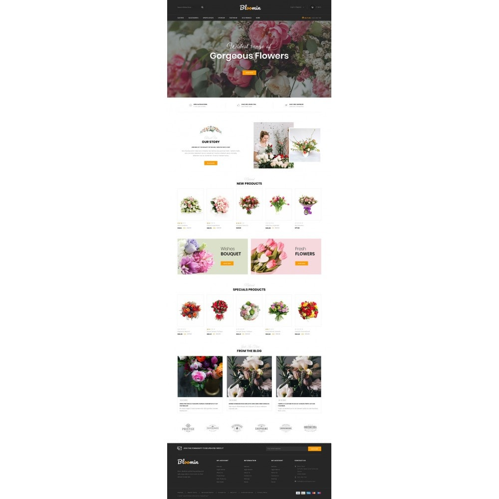 theme - Prezenty, Kwiaty & Uroczystości - Bloomin - Flower Store - 2