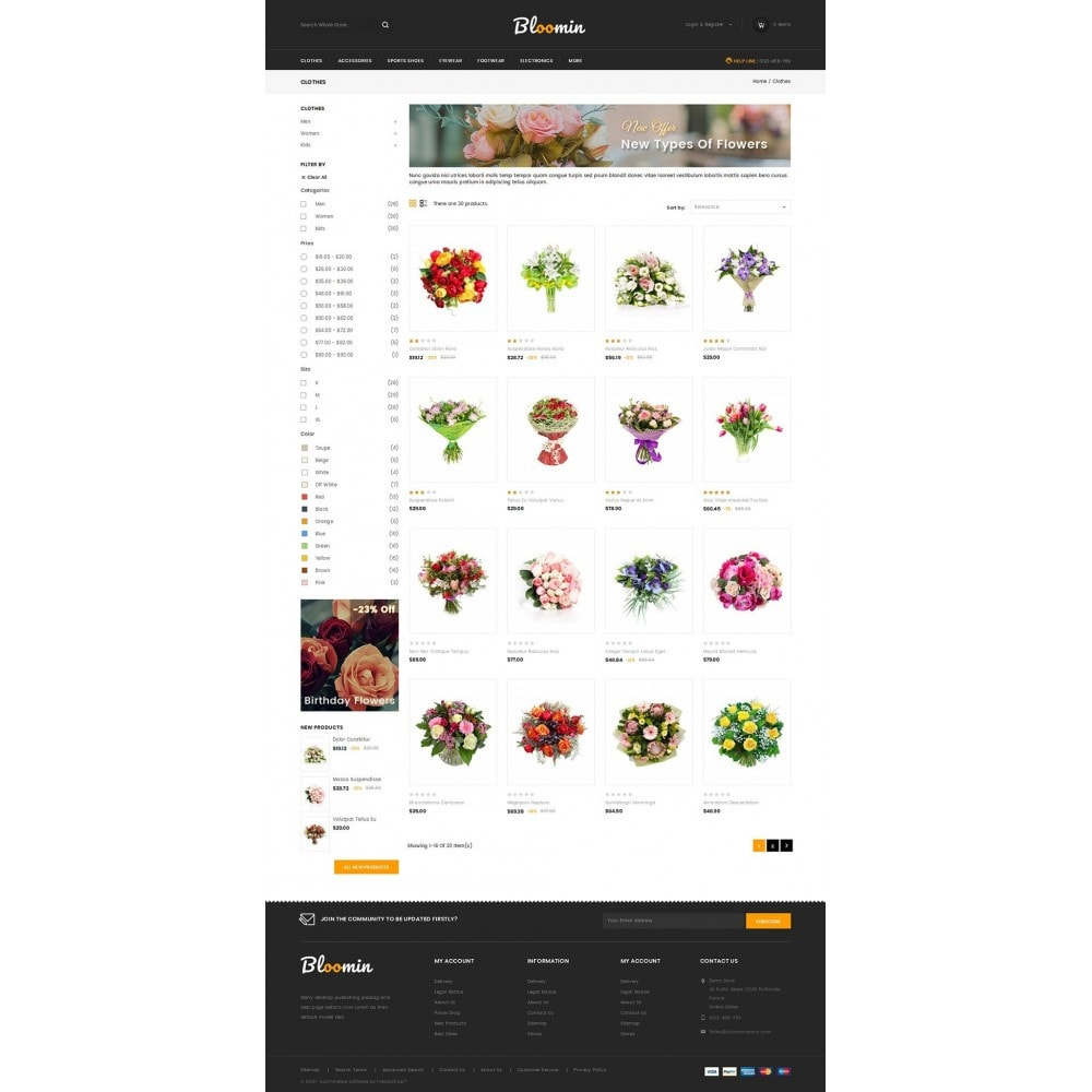 theme - Presentes, Flores & Comemorações - Bloomin - Flower Store - 3