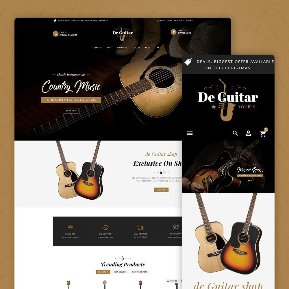 theme - Arte y Cultura - De Guitar & Music Instruments - 1
