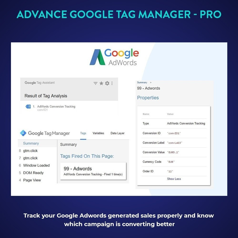module - Analyses & Statistieken - Advance Google Tag Manager - PRO - 4
