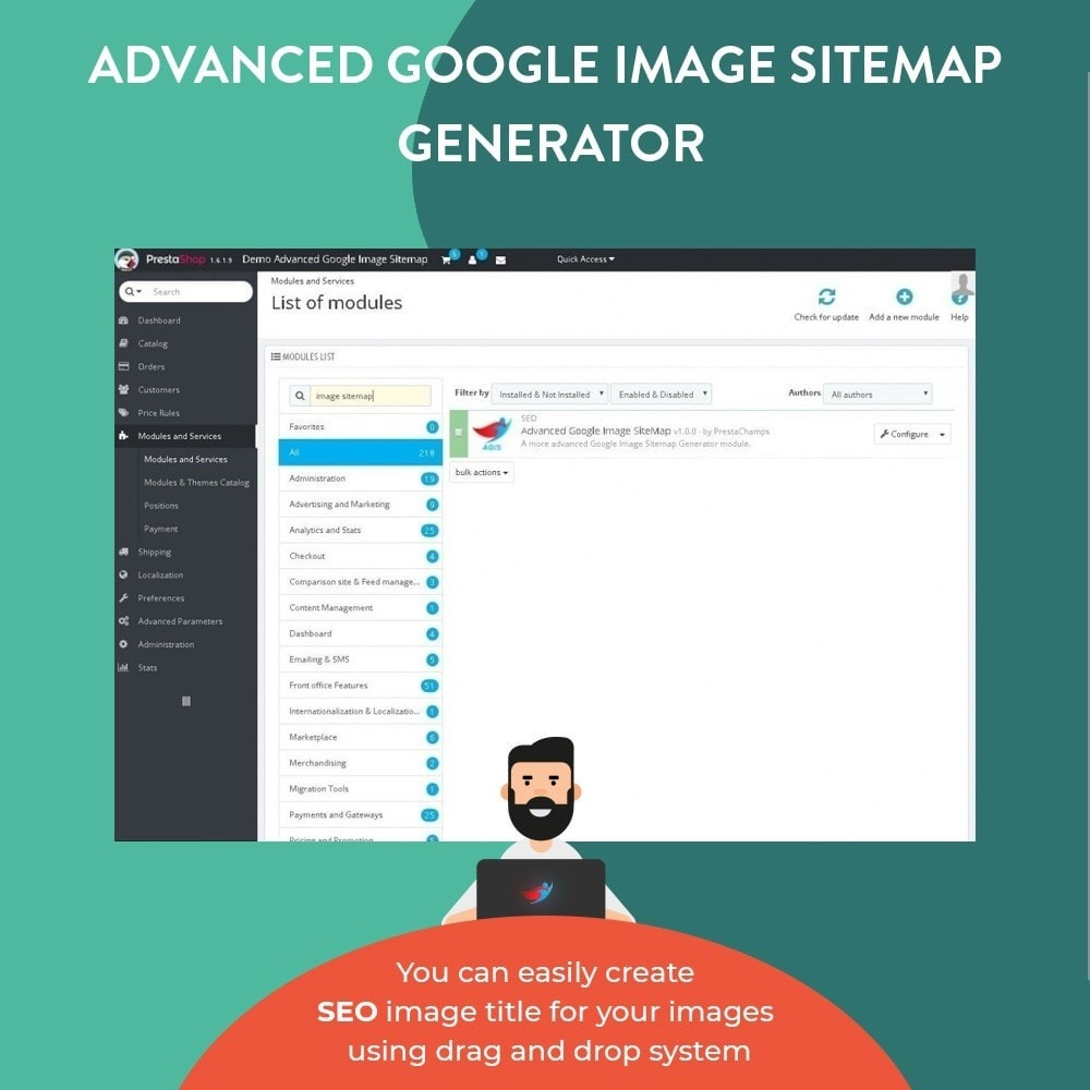 module - SEO (Referenciamento natural) - Advanced Google Image Sitemap Generator - 3