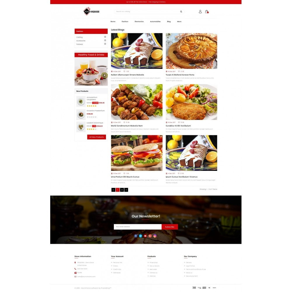 theme - Продовольствие и рестораны - Food Square - Restaurant Store - 9