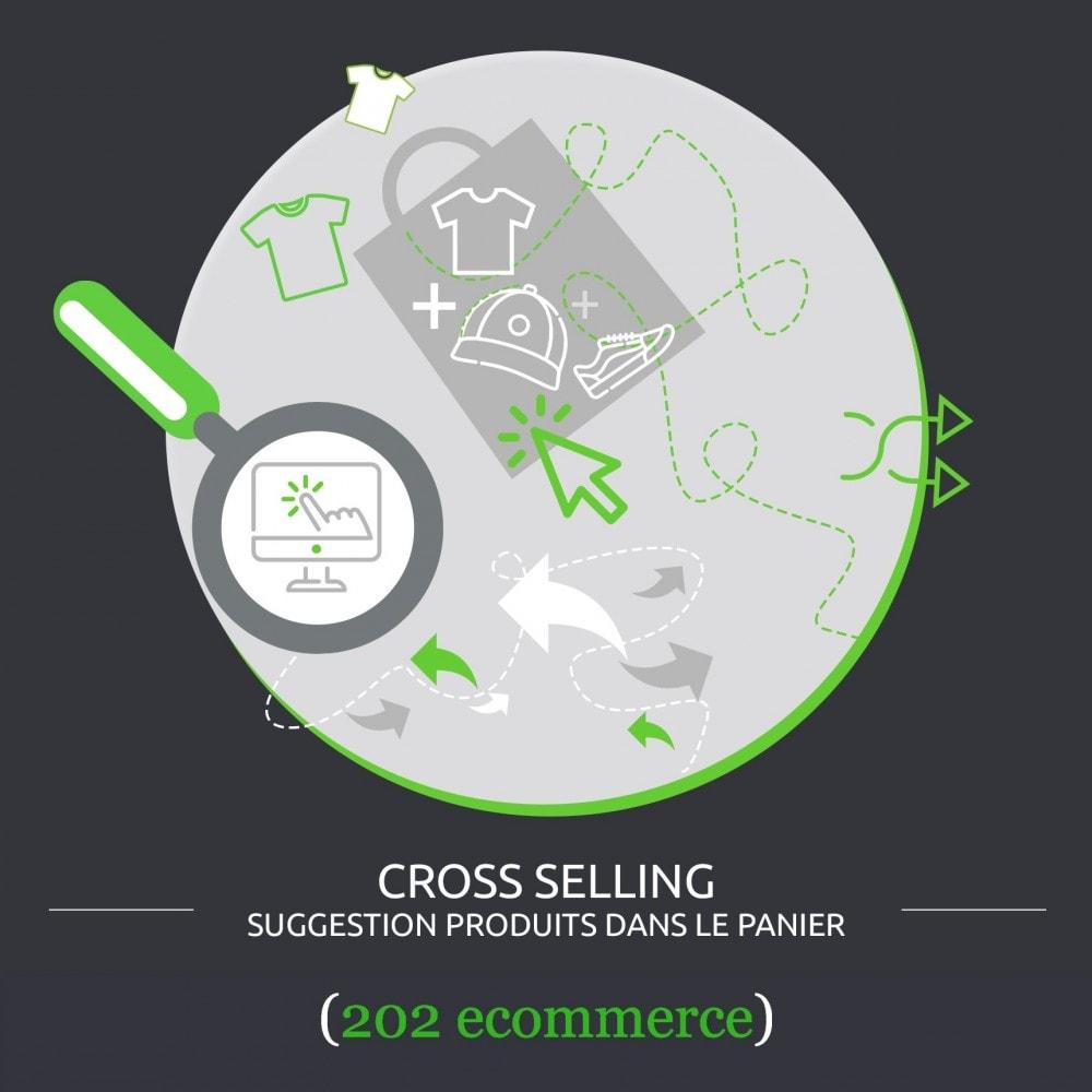 module - Ventes croisées & Packs de produits - Suggestion produits dans le panier (cross selling) - 1