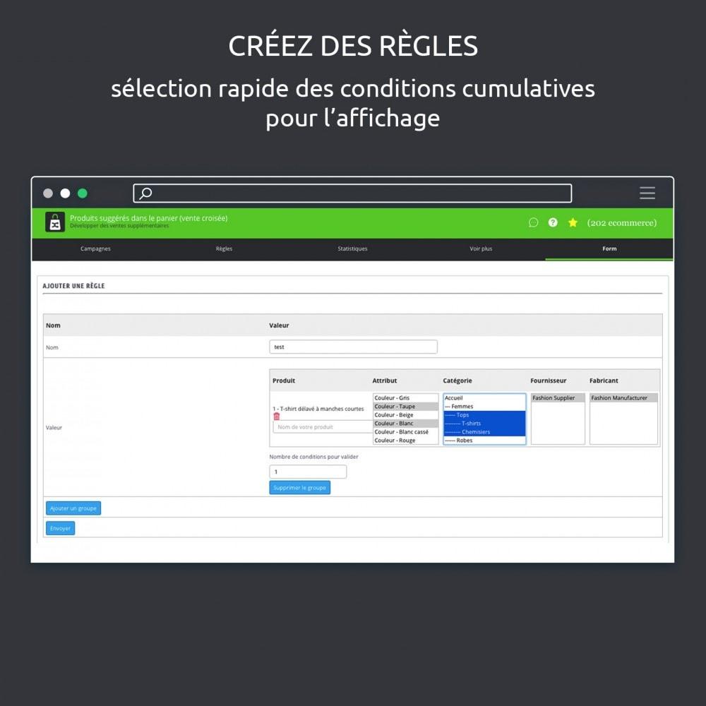 module - Ventes croisées & Packs de produits - Suggestion produits dans le panier (cross selling) - 5