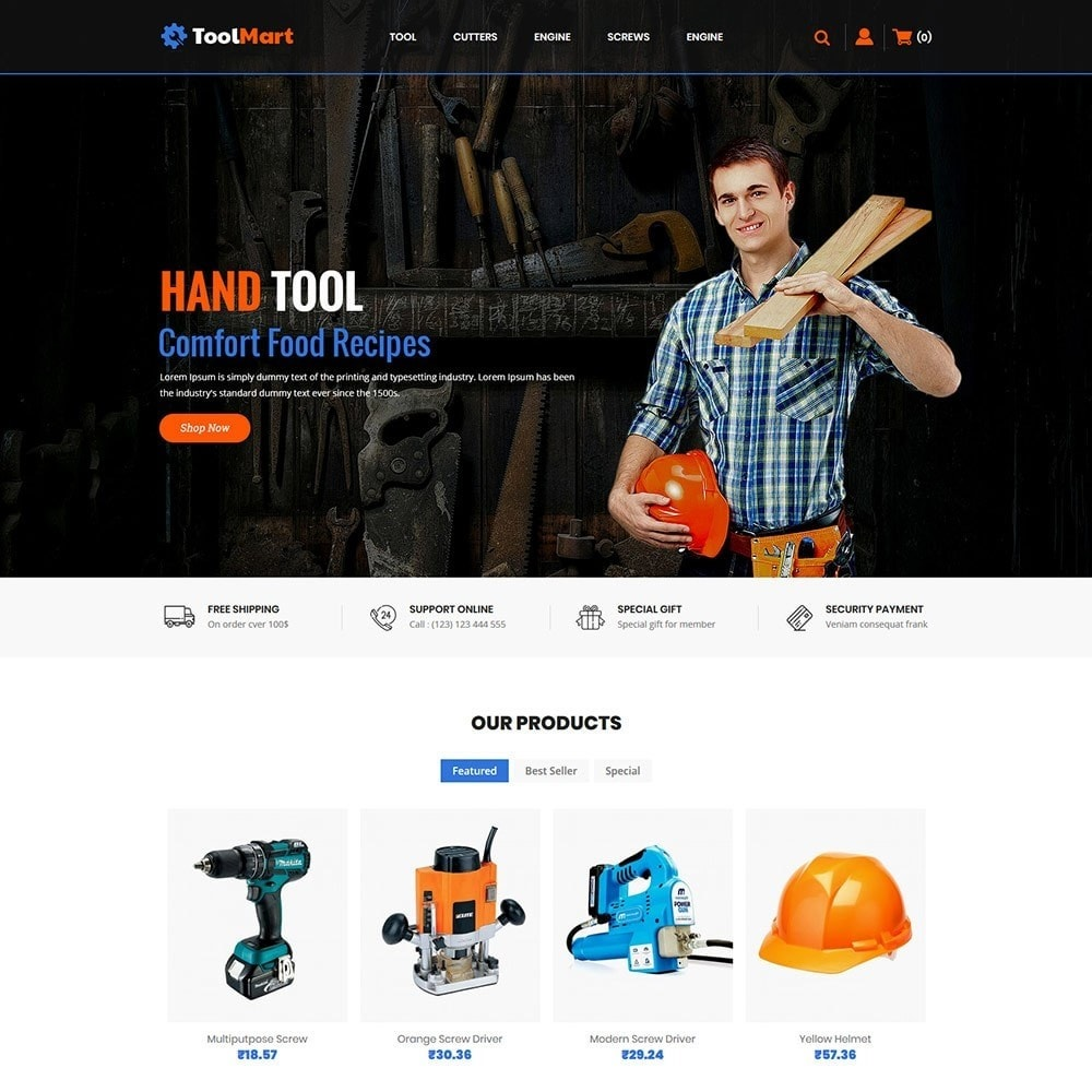 theme - Automotive & Cars - Toolmart Tools  - Auto Car Store - 2