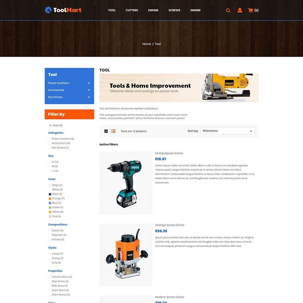 theme - Automotive & Cars - Toolmart Tools  - Auto Car Store - 4