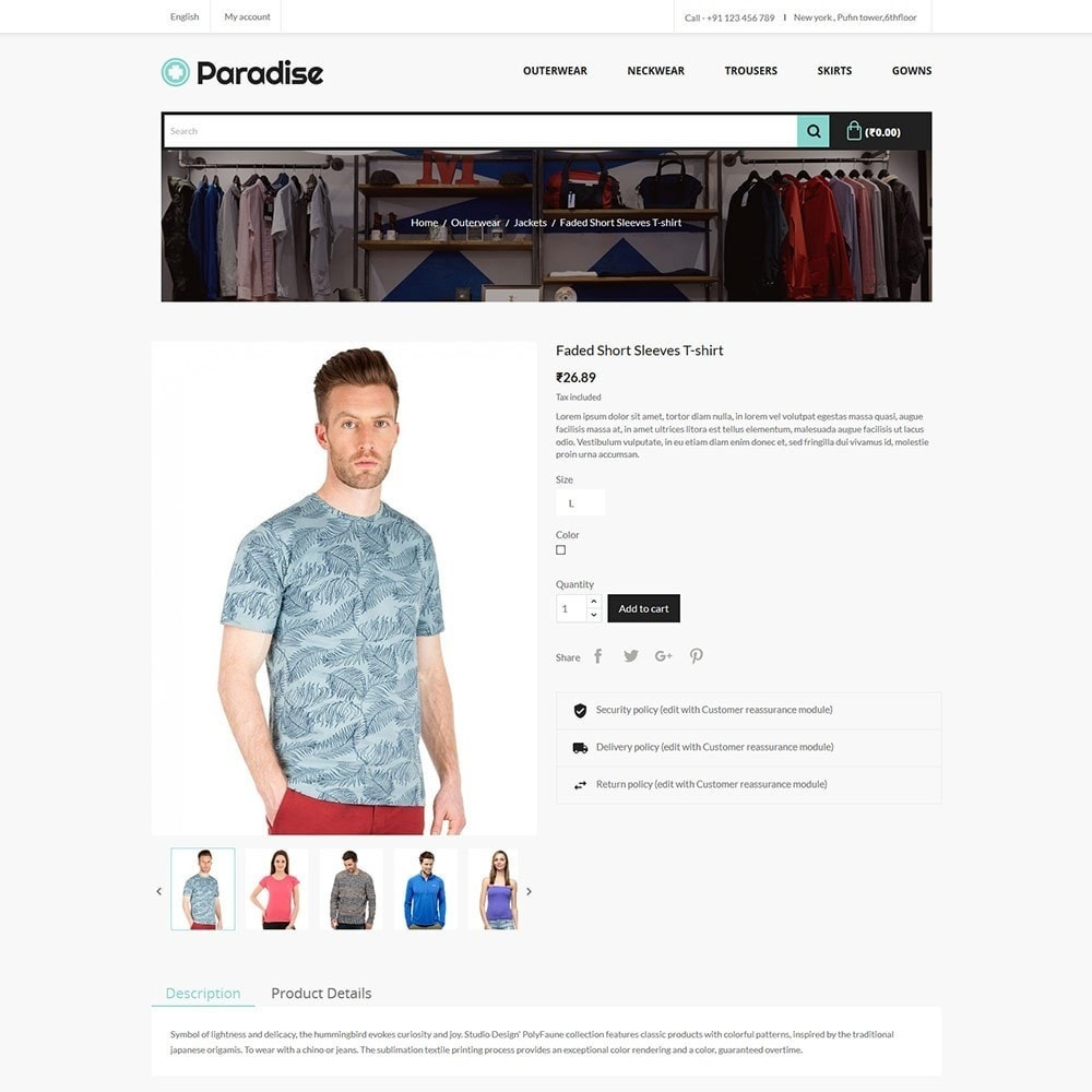 theme - Fashion & Shoes - Paradise Fashion - Apparels Store - 5