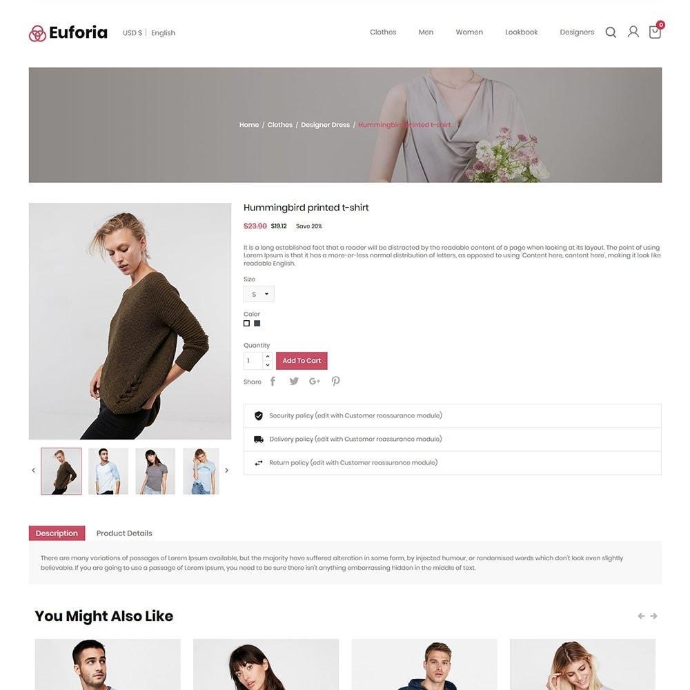 theme - Fashion & Shoes - Euforia Designer  - Fashion Cloth  Store - 4