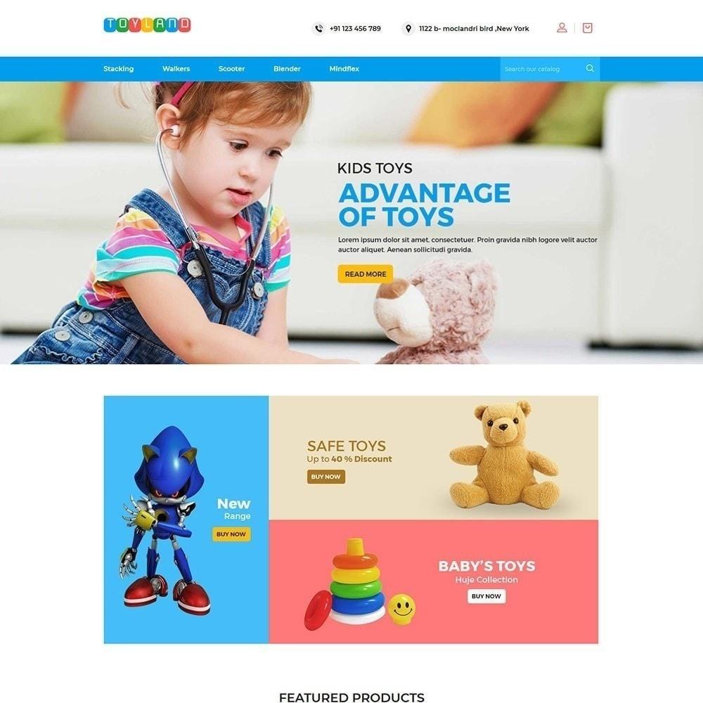 theme - Дети и Игрушки - Toyland - Магазин игрушек для детей - 3
