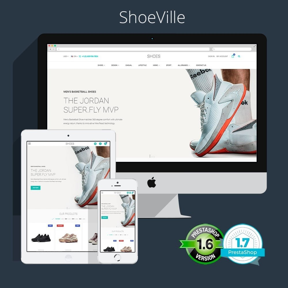 theme - Fashion & Shoes - The ShoeVille - Footwear Store - 1