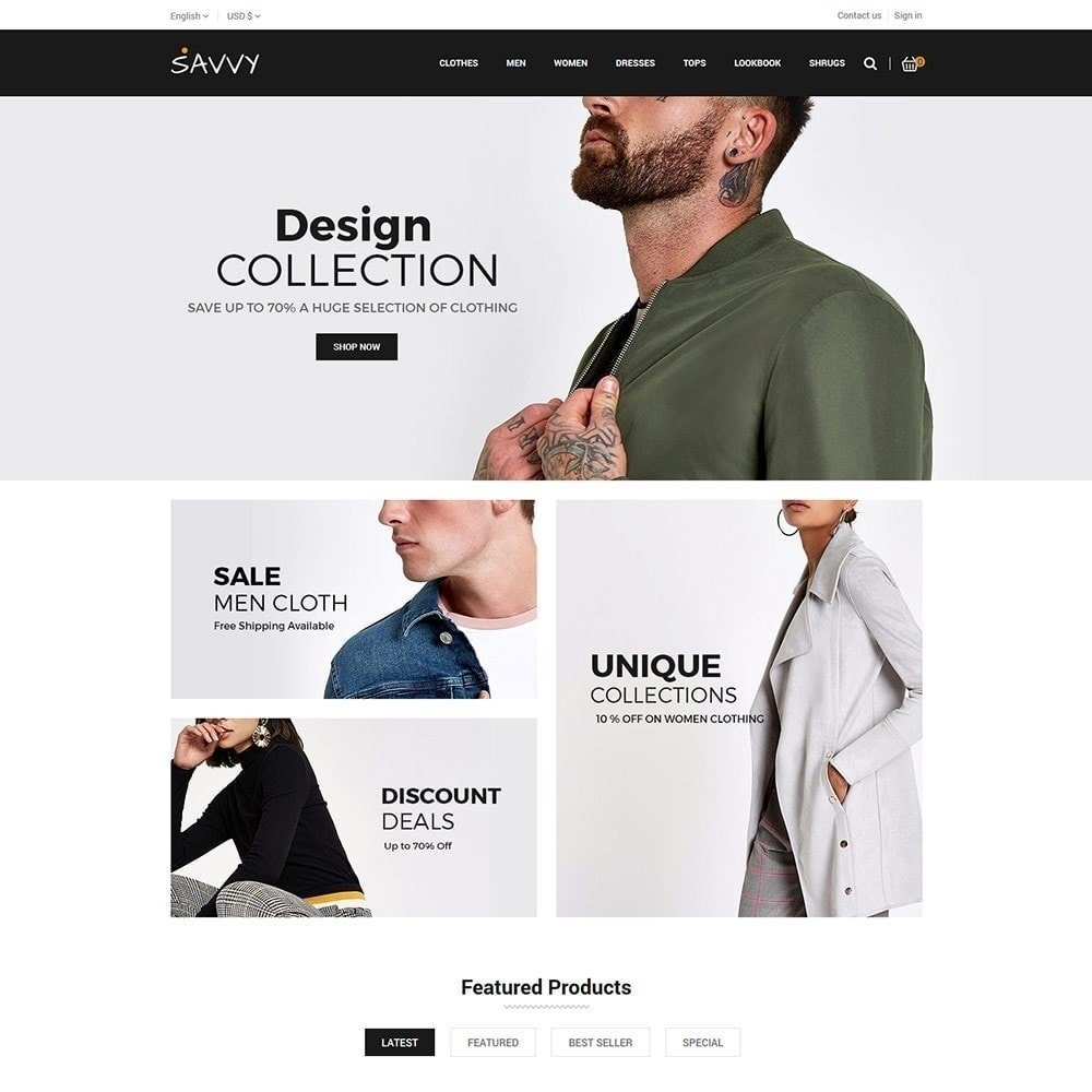 theme - Mode & Chaussures - Savvy Designer - Magasin de mode - 3