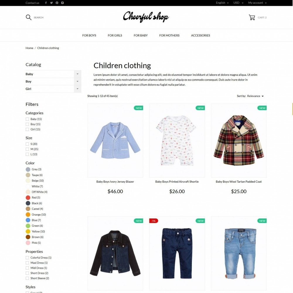 theme - Kids & Toys - Сheerful shop - 5