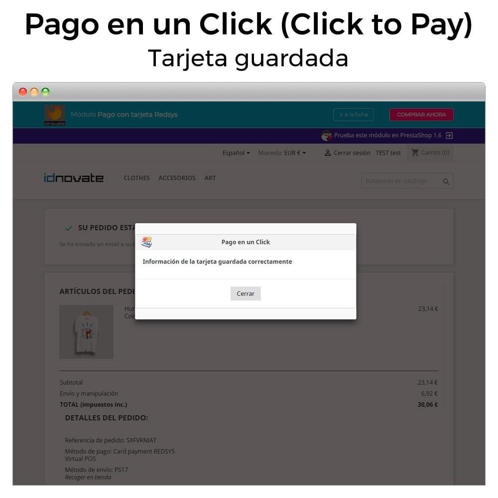 module - Pago con Tarjeta o Carteras digitales - TPV REDSYS Pago tarjeta (pago un click, devoluciones) - 13