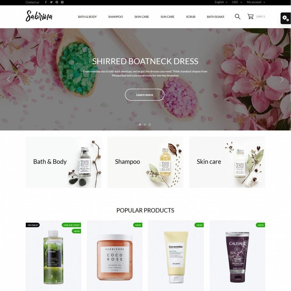 theme - Health & Beauty - Sabrina Cosmetics - 2