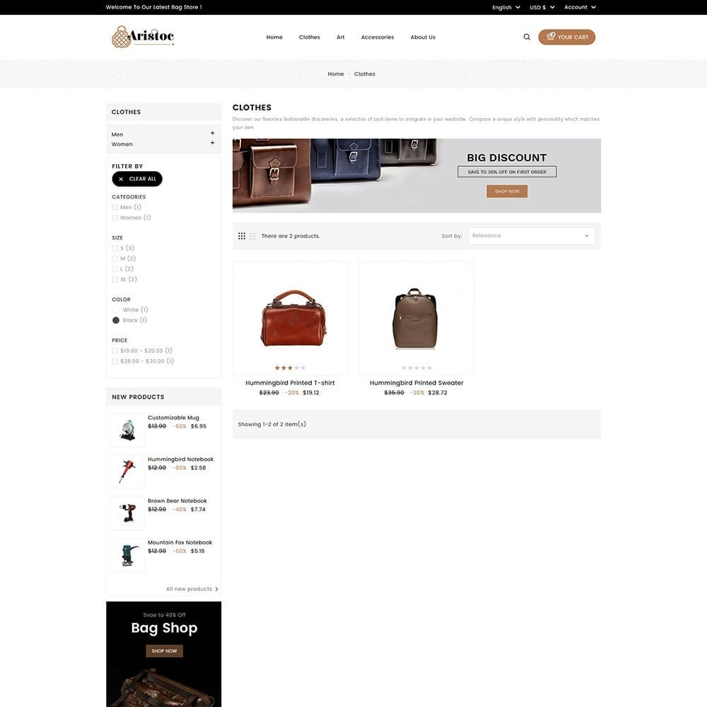 theme - Fashion & Shoes - Aristoc Bag Store - 5