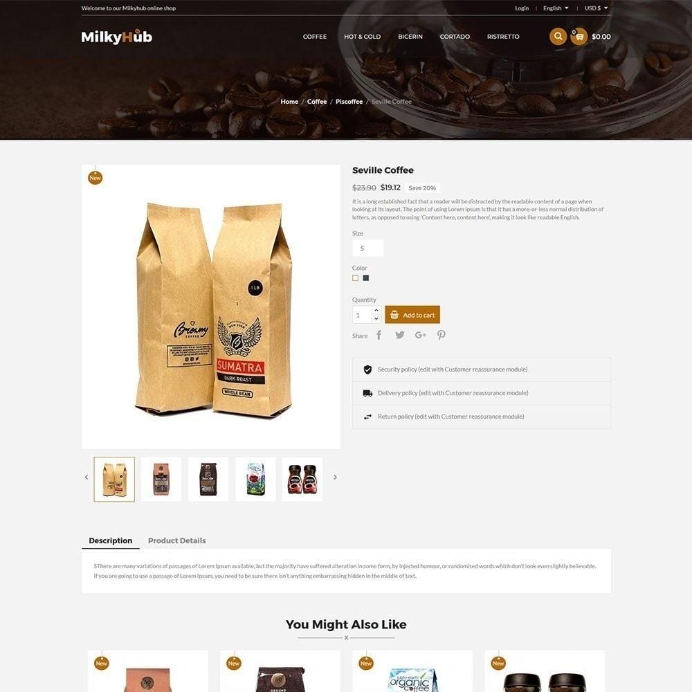 theme - Gastronomía y Restauración - Milkyhub Drink - Tienda De Café - 5