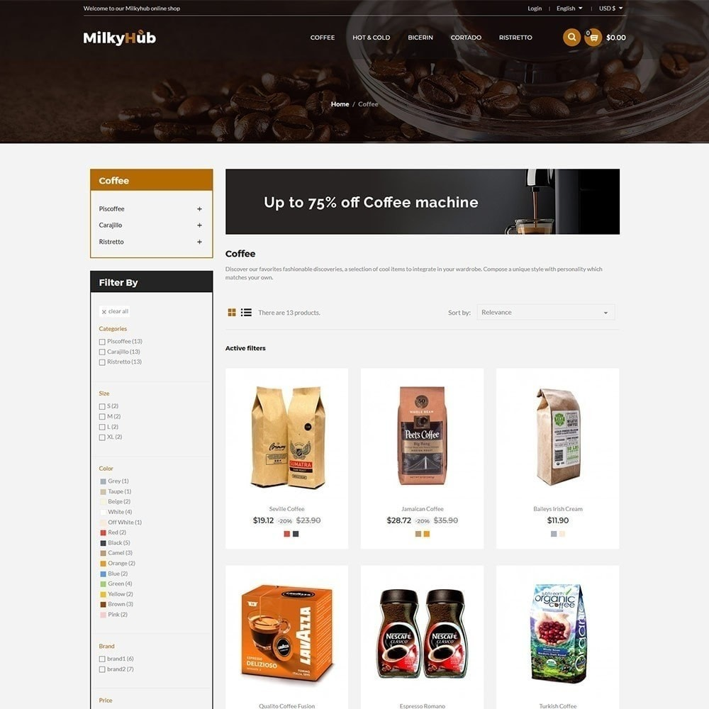 theme - Eten & Restaurant - Milkyhub Drink -Coffee Store - 3