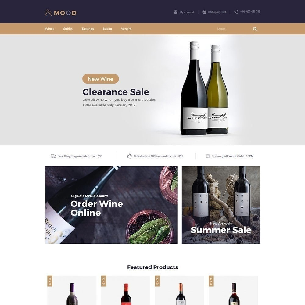 theme - Drink & Wine - Mood Wine - Drink Store - 3