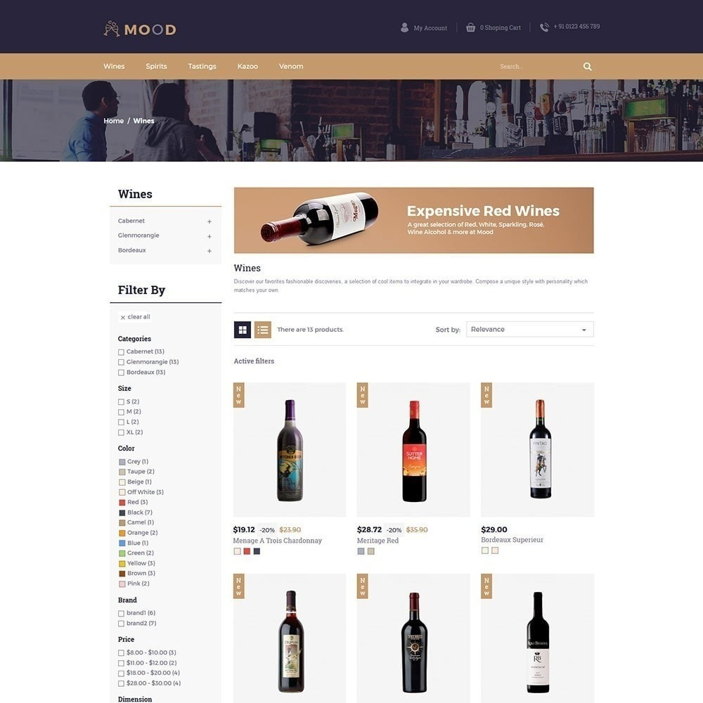 theme - Напитки и с сигареты - Mood Wine - Магазин напитков - 3