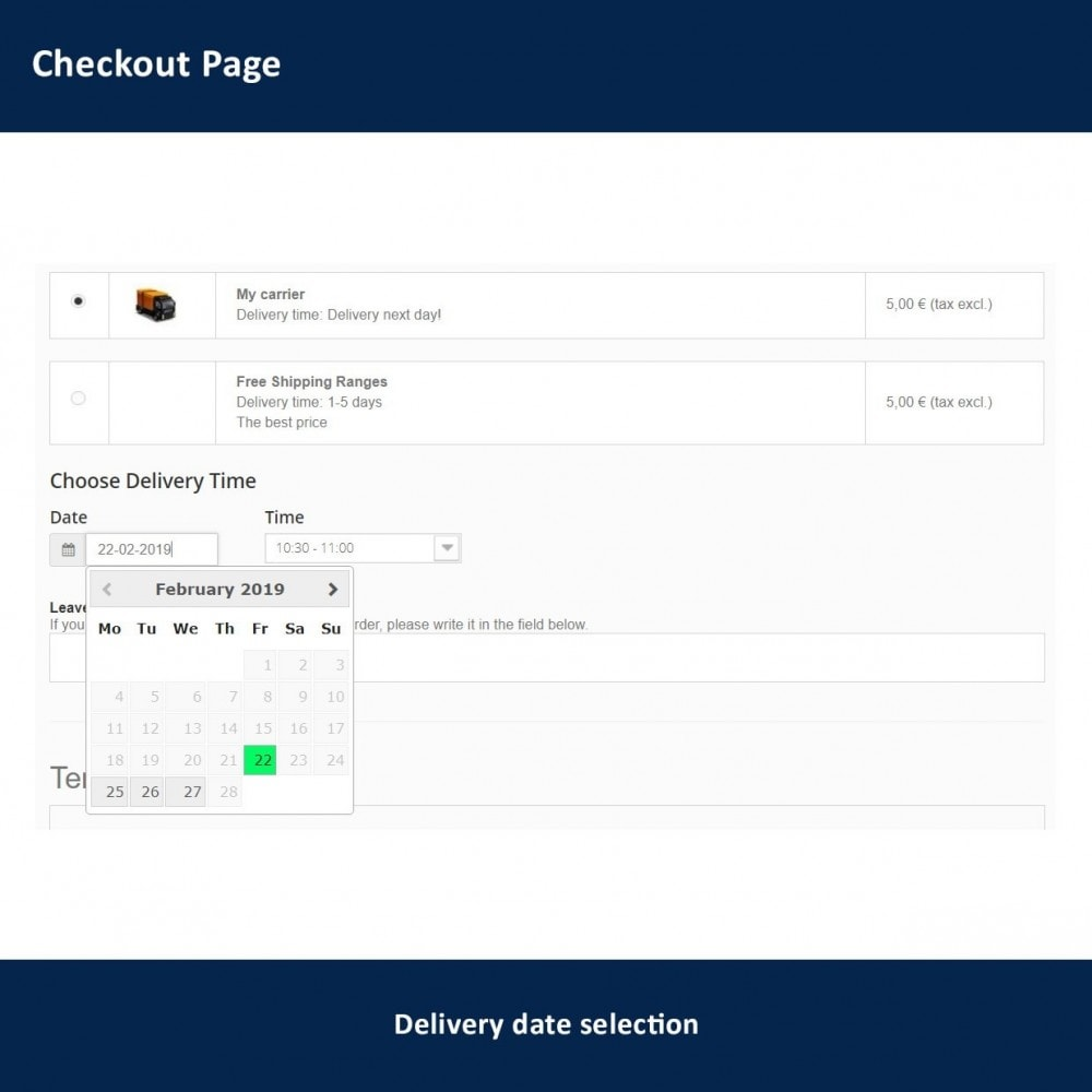 module - Lieferdatum - Delivery Time and Date - 2