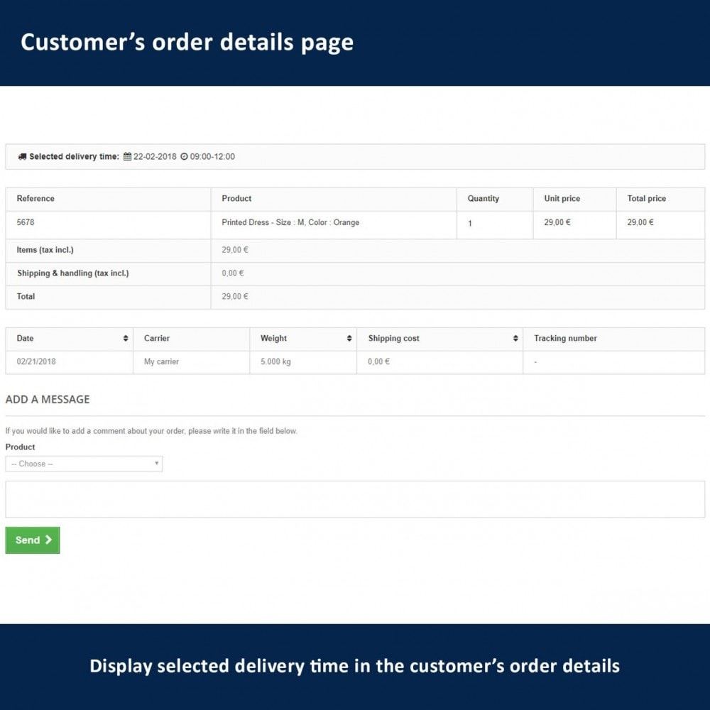 module - Lieferdatum - Delivery Time and Date - 19