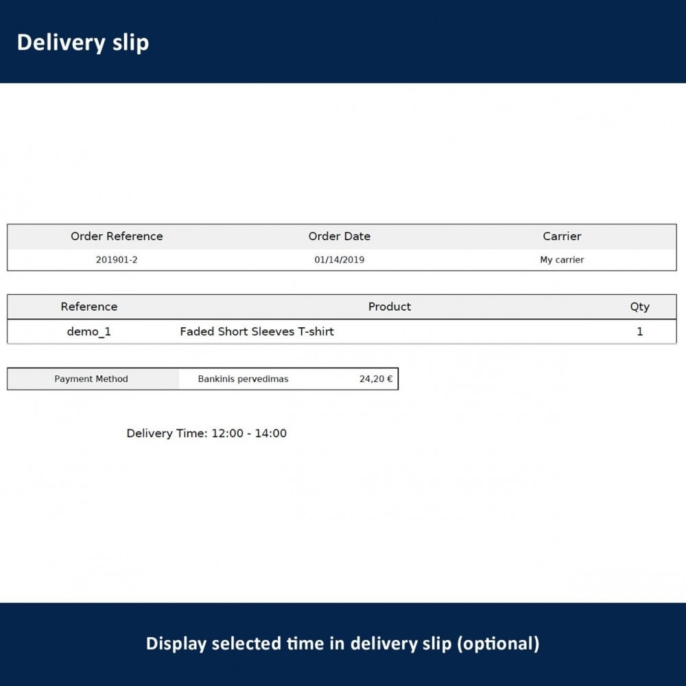 module - Lieferdatum - Delivery Time and Date - 21