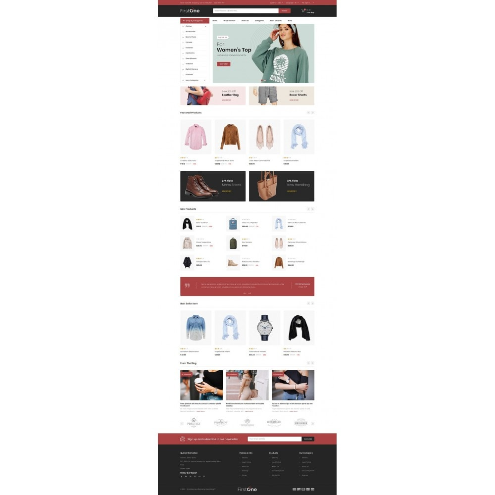theme - Moda & Obuwie - FirstOne - Fashion Shop - 2