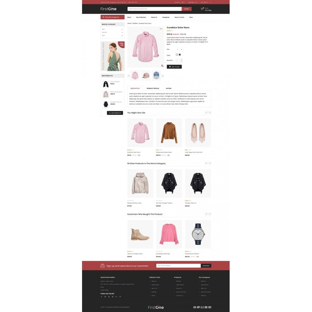 theme - Moda & Obuwie - FirstOne - Fashion Shop - 4