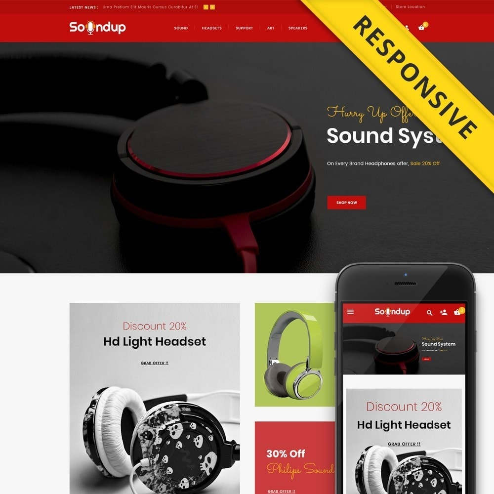 theme - Electrónica e High Tech - Soundup - Digital Store - 1