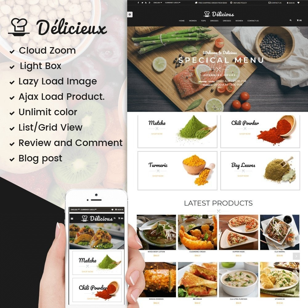 theme - Food & Restaurant - Delicious Food Store - 1