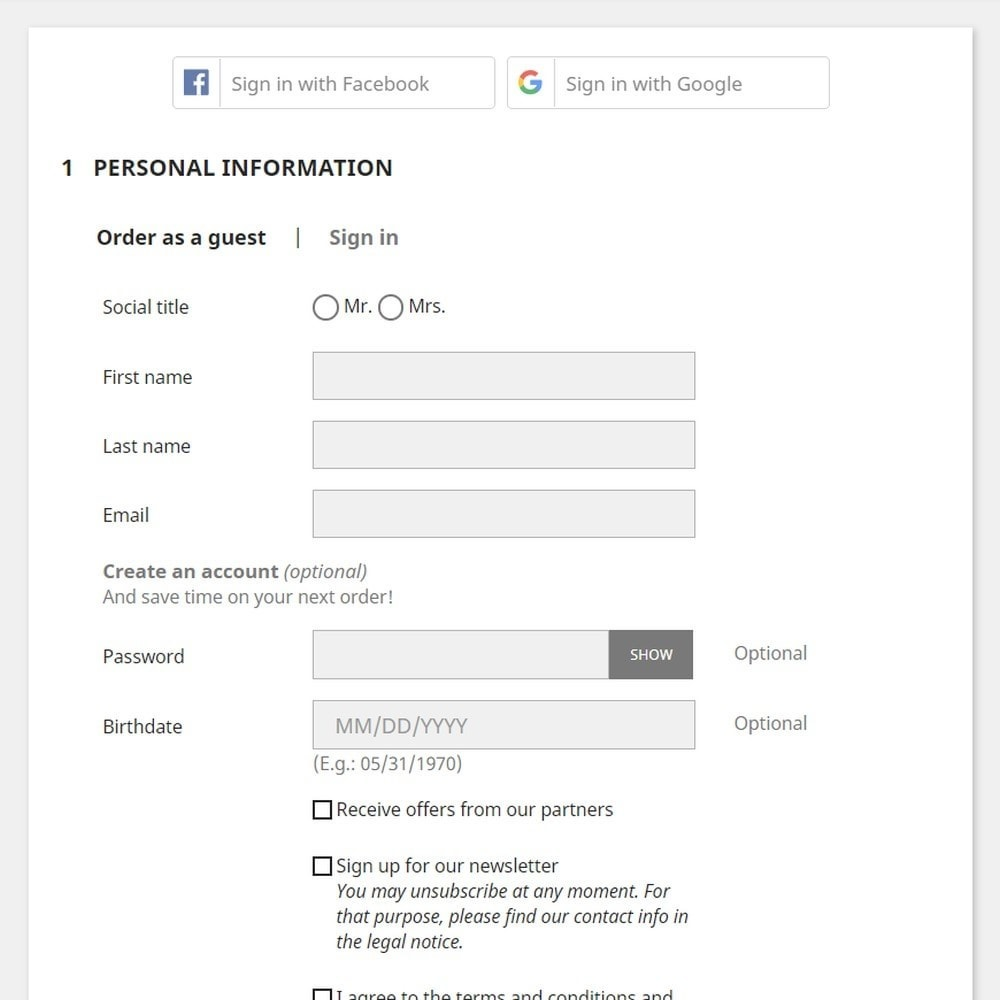 module - Express Checkout - Social Login buttons - 3