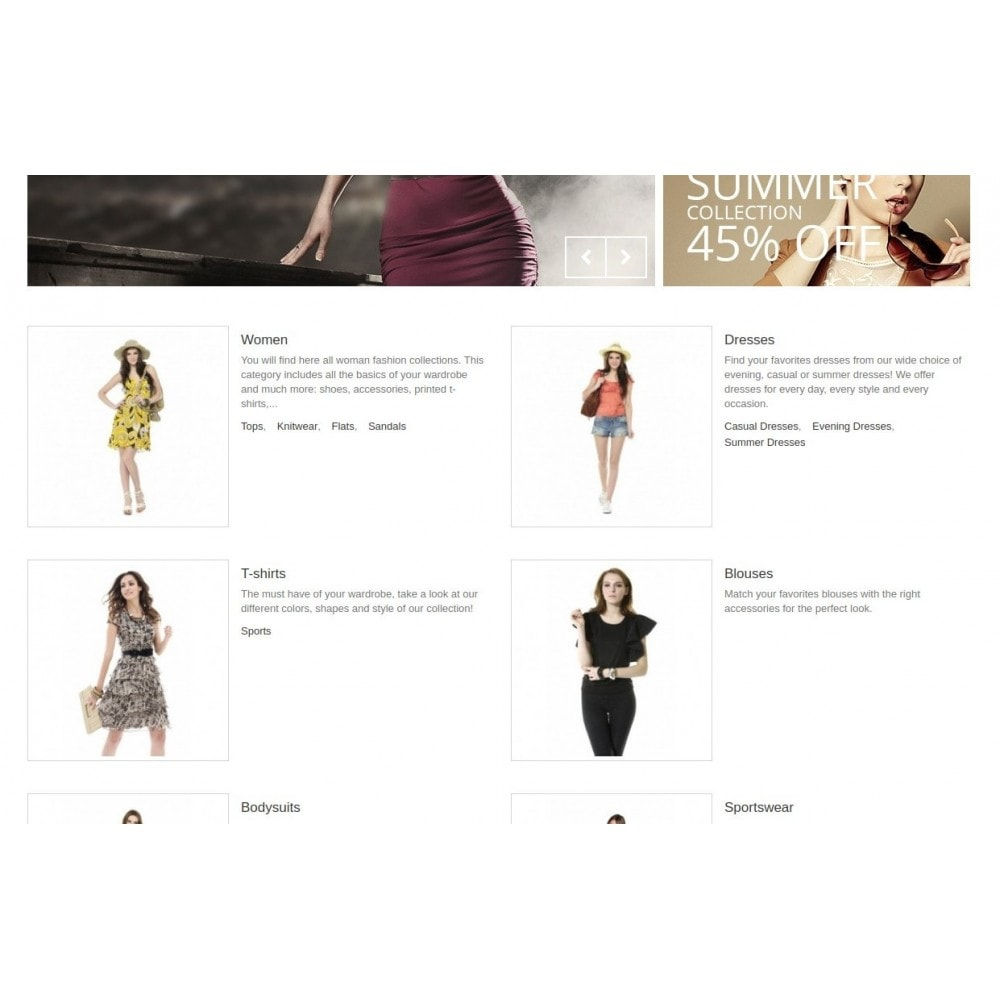 module - Blocos, Guias & Banners - Homepage Categories - Configurable thumbs, layout, ... - 5