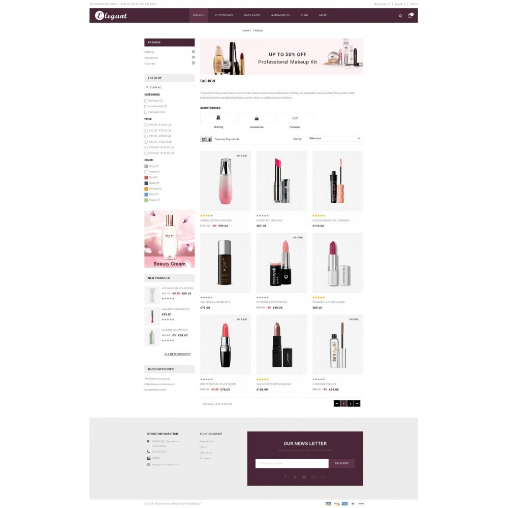 theme - Health & Beauty - Elegant - Beauty Store - 3