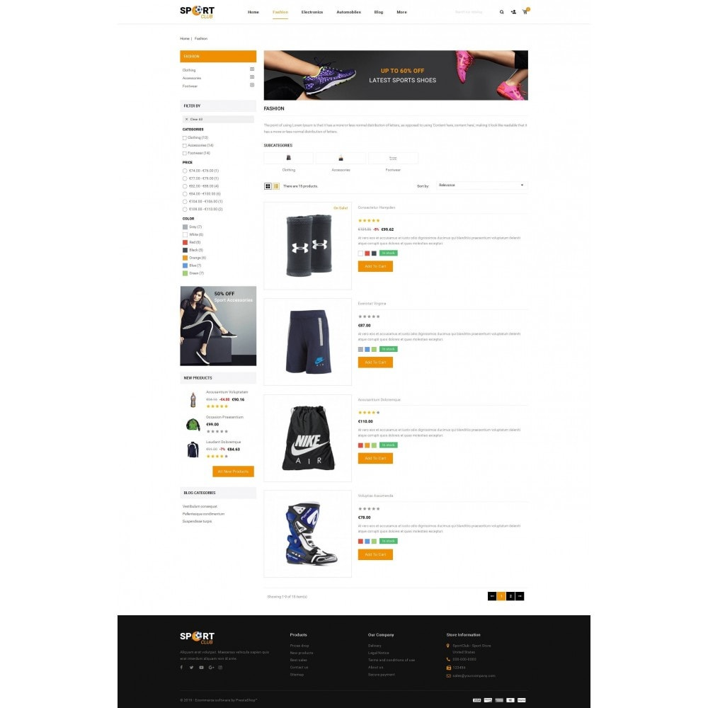 theme - Sport, Attività & Viaggi - Sport Club - Accessories Store - 4